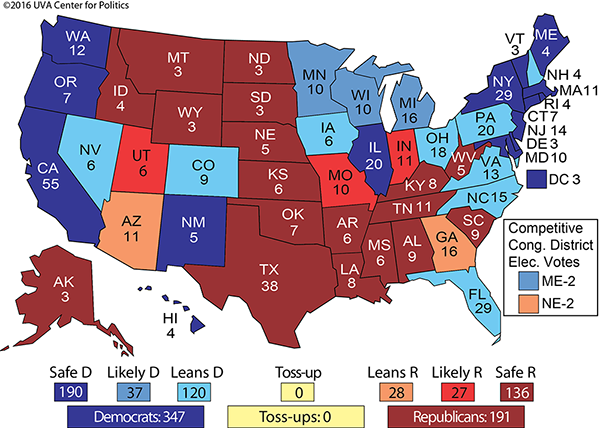 Electoral College Maps 2016 Projections & Predictions ...
