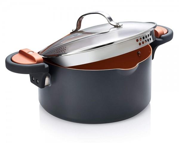 Gotham Steel Multipurpose Pasta Pot with Strainer Lid