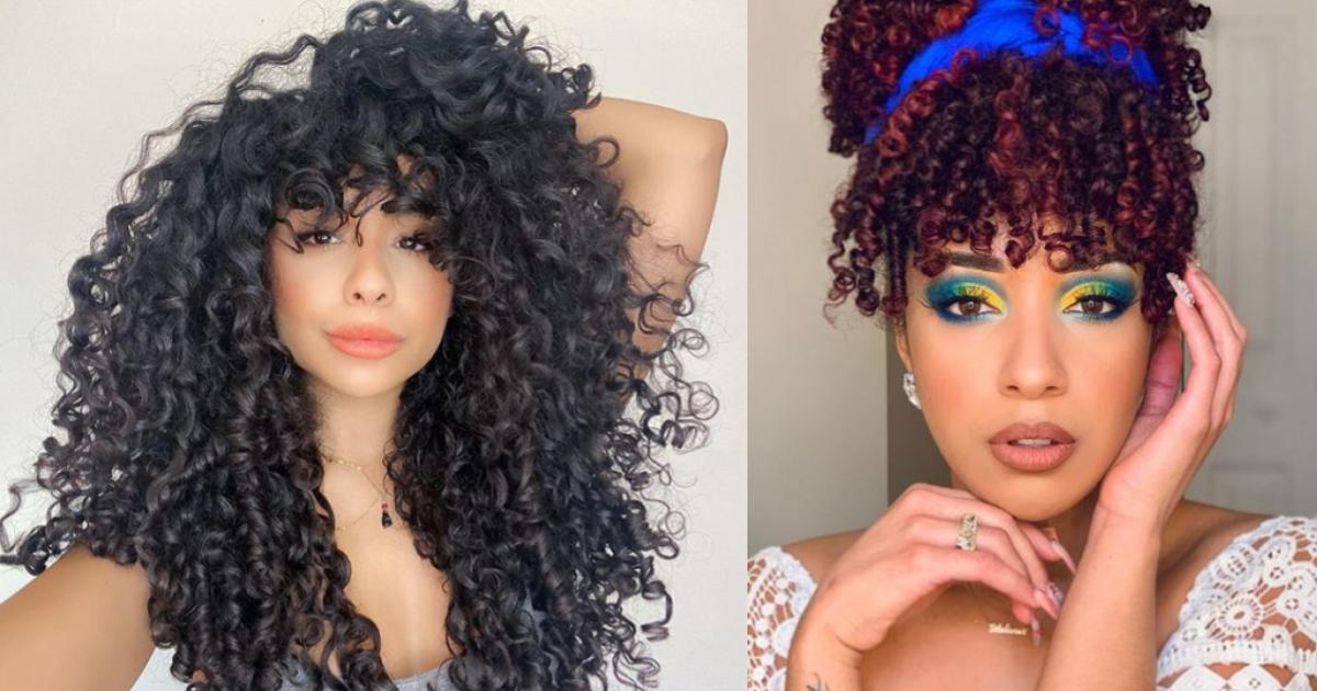 Quarantine Hairstyle Here Are 5 Latina Curly Bangs Inspo To Cut Off Boredom Style Latin Post Latin News Immigration Politics Culture