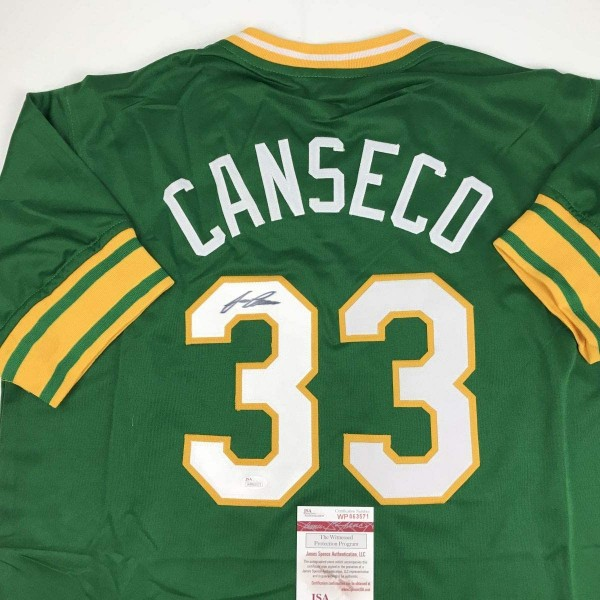 Oakland Green José Canseco Signed Jersey