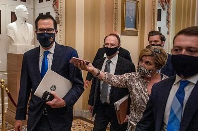 House Speaker Pelosi And Treasury Secretary Mnuchin Continue COVID Relief Talks