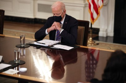 President Biden And Vice President Harris Meet With Cabinet Members And Immigration Advisors
