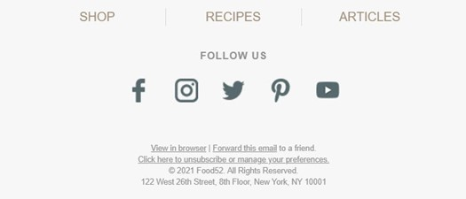 How to Design an Email Footer