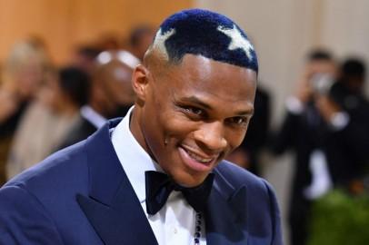 LA Lakers' Russell Westbrook Debuted a Unique Hairdo at Met Gala 2021