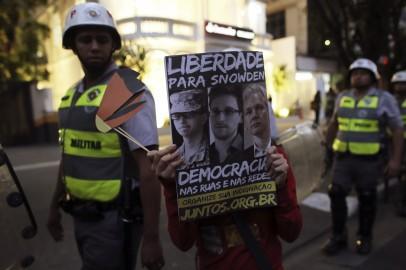 Edward Snowden and Wikileaks founder Julian Assange Poster