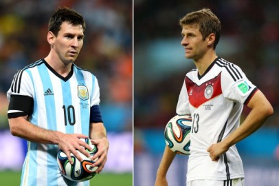Lionel Messi and Thomas Muller
