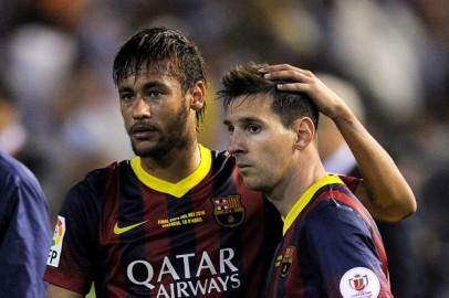 Barcelona Forwards Lionel Messi and Neymar