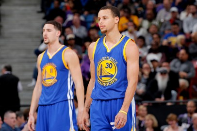 The Golden State Warriors Stephen Curry and Klay Thompson