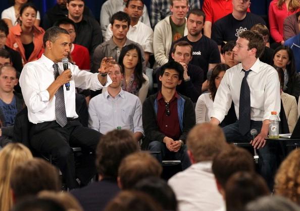Zuckerberg and Obama