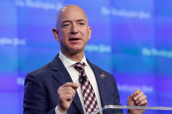 Jeff Bezos And John Kerry Attend Opening Ceremony For New Washington Post HQ