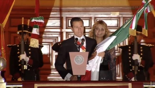 El Grito de la Independencia in Mexico - September 15, 2016