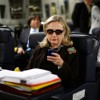 Hillary Clinton, in the image that sparked the meme