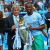 Man City's Manuel Pellegrini and Yaya Toure