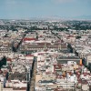 Aerial view of a city in Mexico