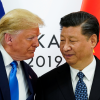 vFILE PHOTO: U.S. President Donald Trump meets with China's President Xi Jinping at the start of their bilateral meeting at the G20 leaders summit in Osaka, Japan, June 29, 2019