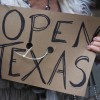 Protesters against the state's extended stay-at-home order demonstrate in Austin