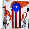 Canvas Prints Wall Art Paintings 8x8 inches Rustic Old Puerto Rico Flag Door People Wall Artworks Pictures for Living Room Bedroom Decoration Home Kitchen..