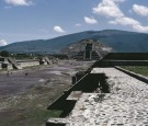 The Pyramid of the Moon at the ancient archaeological site of Teotihuacan in Mexico, circa 1980. The site dates back to around 200 BCE
