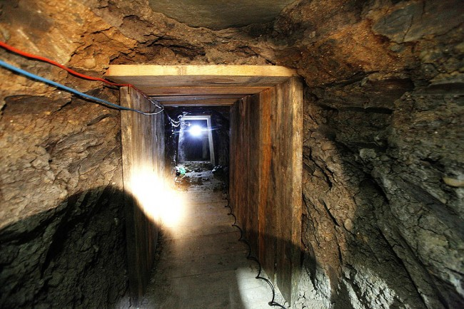 El Chapo Narco Tunnel Found in Front of a National Guard Base in Mexico