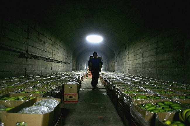 Banana Wholesalers Use Funk Holes As Storages and Dormitories In Wuhan