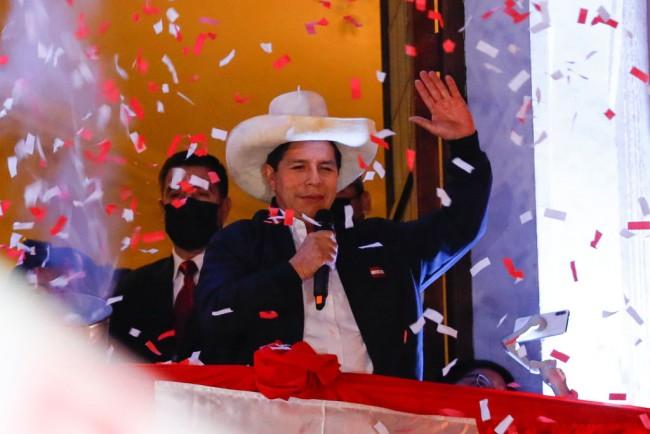 Peru Welcomes New President Pedro Castillo, a Former Teachers' Union Leader