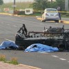 3 Gulf Cartel Gunmen Burned Alive Inside Vehicle After Being Struck Head on by Police Car in Mexico