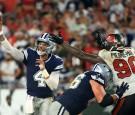 Dallas Cowboys' Dak Prescott in Match with Buccaneers