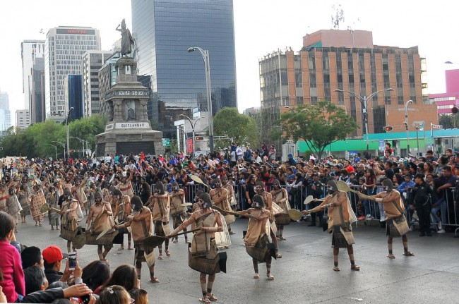 Day of the Dead or Dia De Muertos Parade in Mexico City Returns After Being Canceled in 2020 Due to COVID