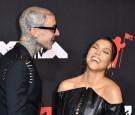 Kourtney Kardashian and Travis Barker on 2021 MTV Video Music Awards