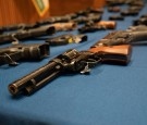 Confiscated guns on display