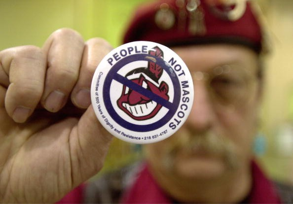 Anti-Cleveland Indians Pin