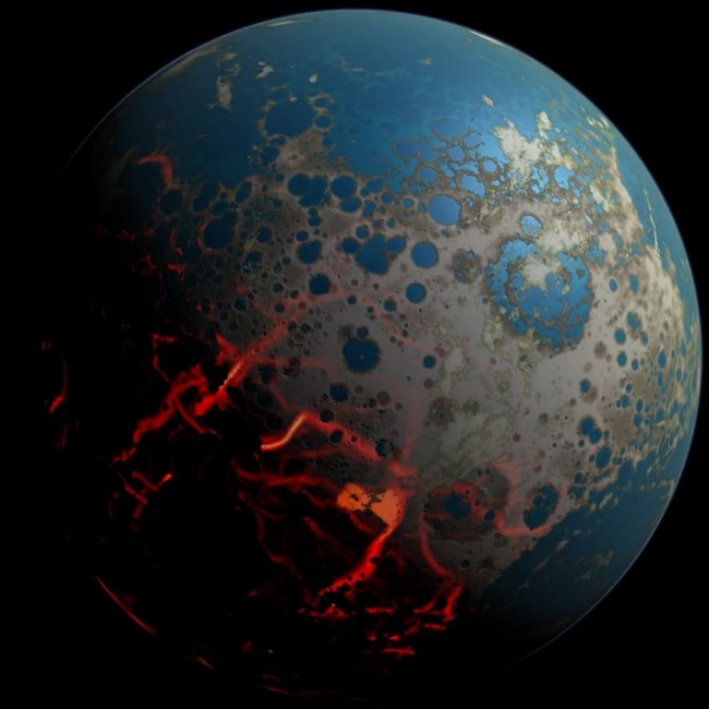 NASA: Giant Asteroids Gave Early Earth Extreme Surface Makeover