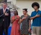 NYC Mayor Bill de Blasio and family
