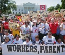 Immigrant Families And Activists Protest Deportations In Front Of White House