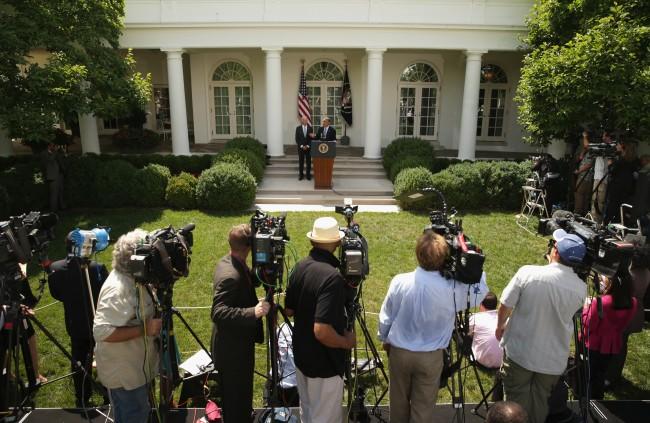President Barack Obama on his immigration reform agenda in the White House Rose Garden, June 30, 2014