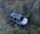 The body of Mexican congressman Gabriel Gomez was found in this burned-out SUV, along with the body of his aide.