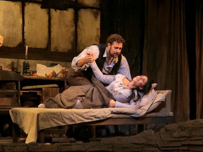 """Sonya Yoncheva (pictured with Bryan Hymel) was a tremendous success in """"La Boheme."""""""