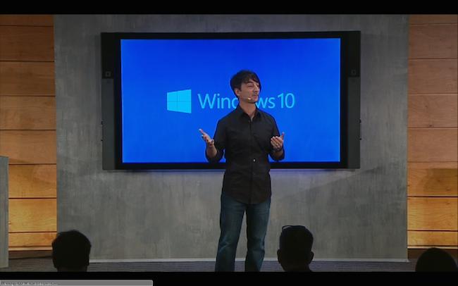 Microsoft Windows 10 Livestream event