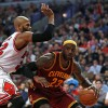 Chicago Bulls Taj Gibson Guards LeBron James of the Cleveland Cavaliers
