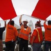 Immigrant workers demonstrate for their rights