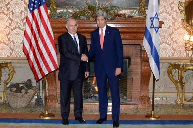 Israel Prime Minister Benjamin Netanyah us Secretary of State John Kerry