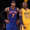 New York Knicks Carmelo Anthony and Los Angeles Lakers Kobe Bryant