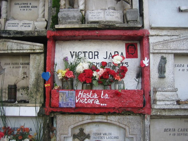 Victor Jara's Niche at Santiago General Cementary