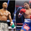 Welterweight Champions Manny Pacquiao and Floyd Mayweather Jr.
