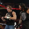 Dean Ambrose with Roman Reigns during