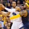 Cleveland Cavaliers Small Forward LeBron James Against Andre Iguodala