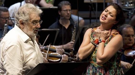 Anna Netrebko and Placido Domingo