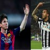 Barcelona Forward Lionel Messi and Juventus Forward Carlos Tevez
