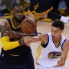 Golden State Warriors Guard Stephen Curry and Cleveland Cavaliers LeBron James