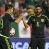 Mexico Forwards Oribe Peralta and Carlos Vela